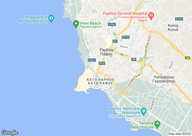 Map for Cyprus - Paphos, Tombs Of The Kings