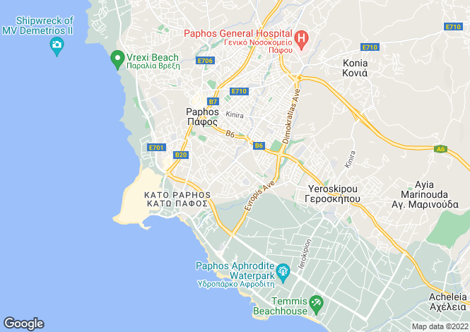 Map for Kato Paphos, Paphos