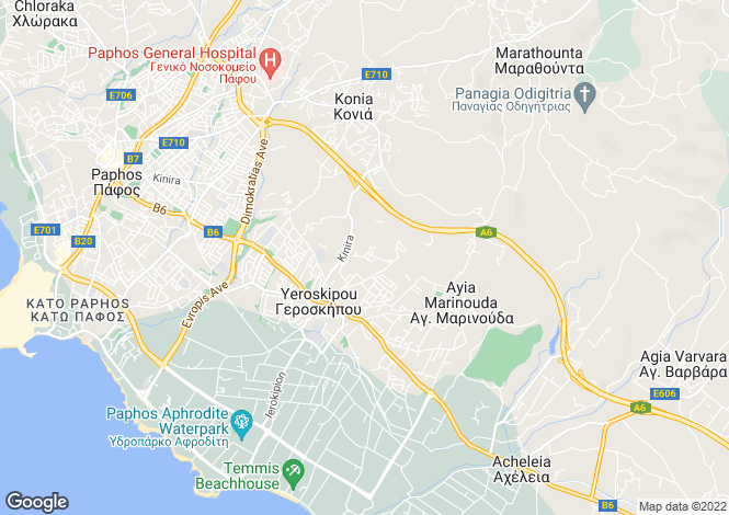 Map for Geroskipou, Paphos