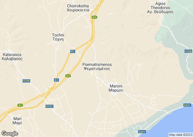Map for Cyprus - Larnaca, Psematismenos