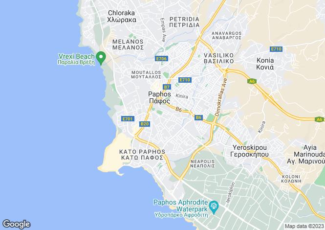 Map for Paphos, Paphos