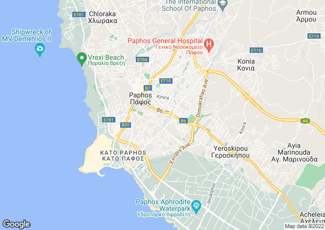 Map for Kato Paphos, Paphos, Cyprus