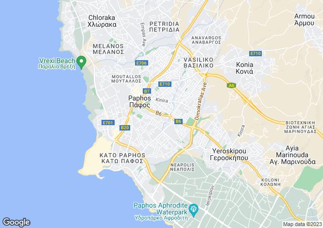 Map for Kato Paphos, Paphos, Cyprus