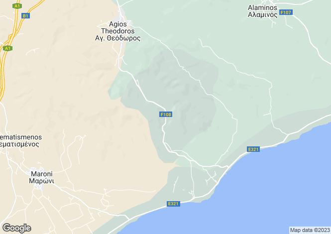 Map for Cyprus - Larnaca, Agios Theodoros