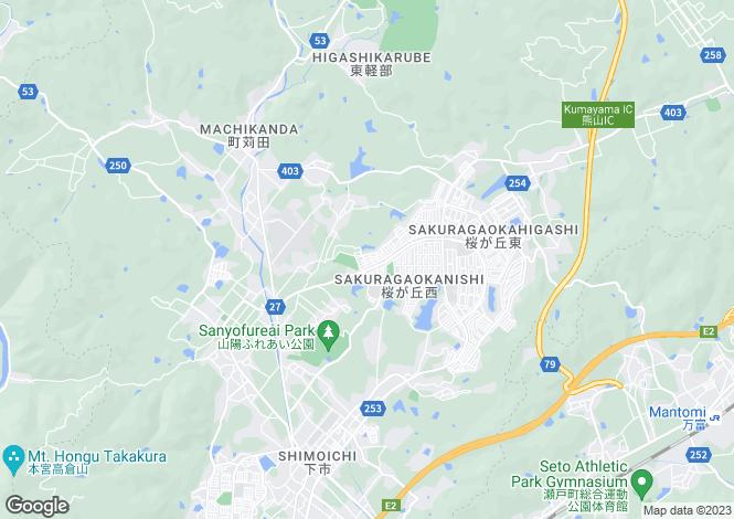 Map for Okayama