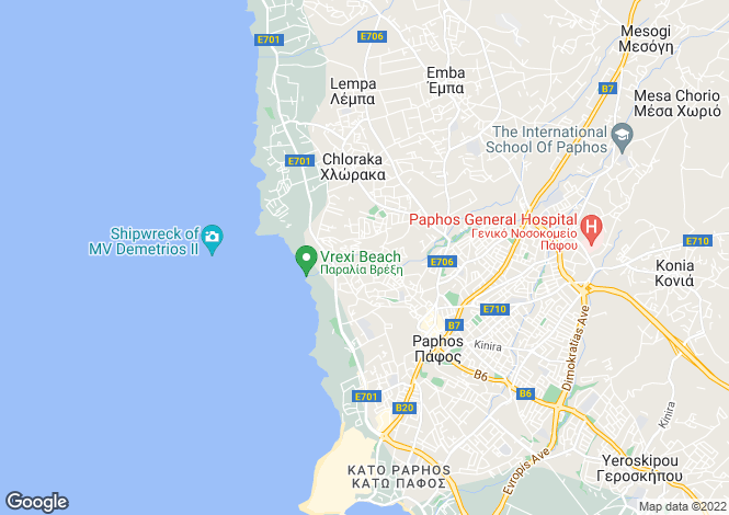 Map for Paphos