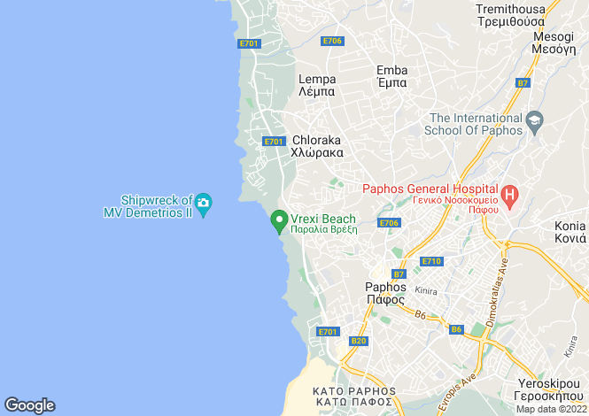 Map for Cyprus - Paphos