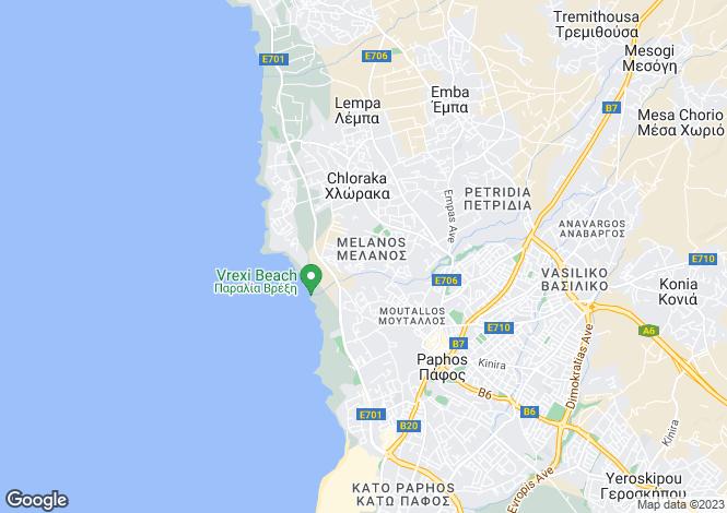 Map for Chlorakas, Paphos