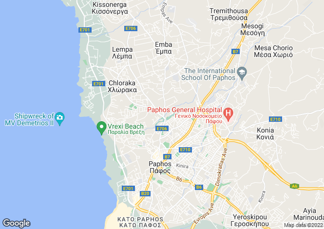 Map for Paphos, Emba