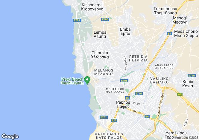 Map for Paphos, Chlorakas