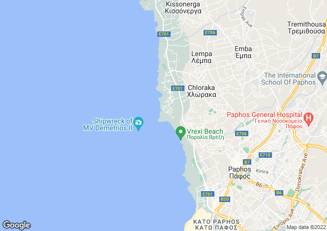 Map for Chloraka, Paphos, Cyprus