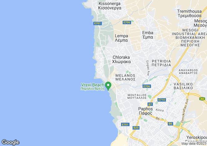 Map for Chloraka - Paphos - Cyprus