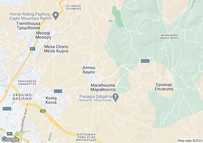 Map for Paphos, Armou