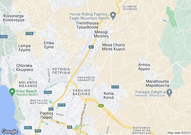 Map for Paphos, Anavargos