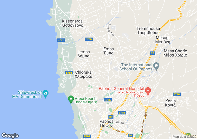 Map for Chlorakas, Paphos