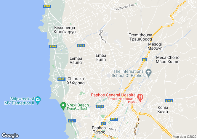 Map for Emba, Paphos
