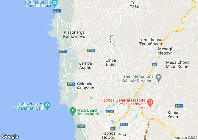 Map for Cyprus - Paphos, Emba