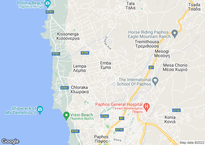 Map for Paphos, Empa