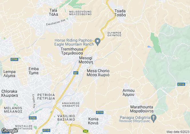 Map for Paphos, Mesogi