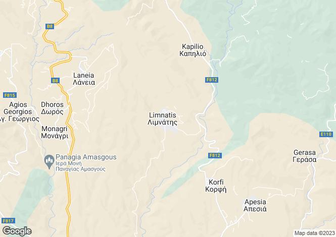 Map for Limnatis, Limassol