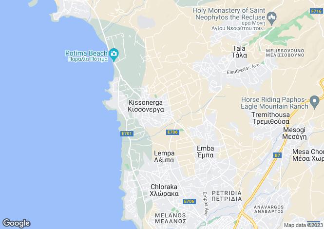 Map for Kissonerga, Paphos
