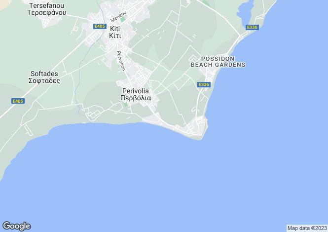Map for Cyprus - Larnaca, Pervolia