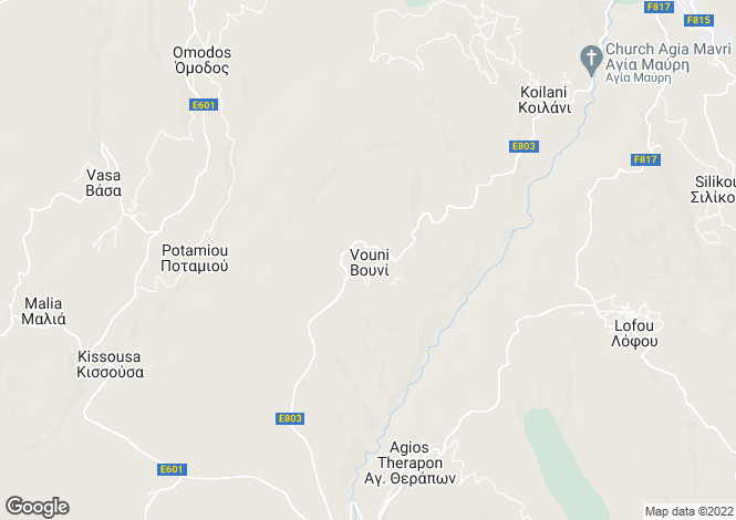 Map for Limassol, Vouni