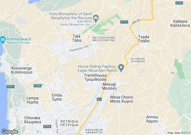 Map for Tremithousa, Paphos