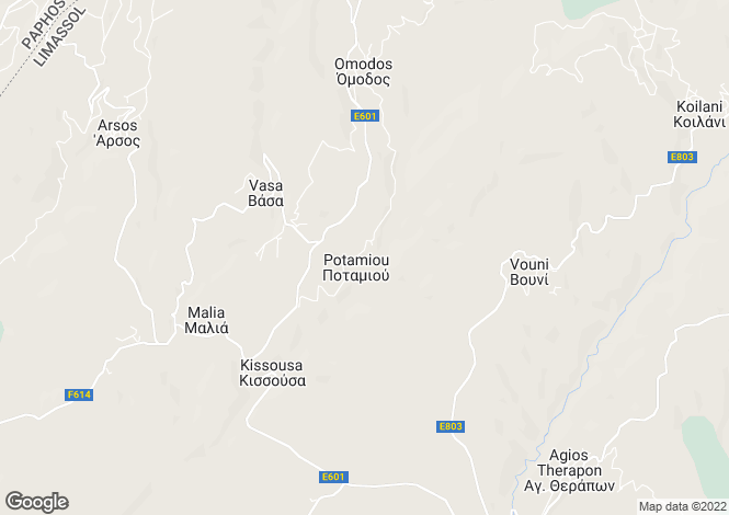 Map for Potamiou, Limassol