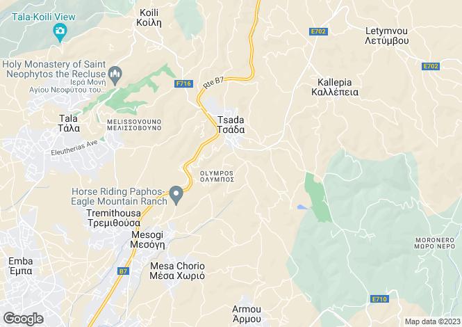 Map for Tsada, Paphos
