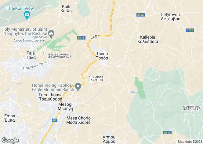 Map for Tsada - Paphos - Cyprus