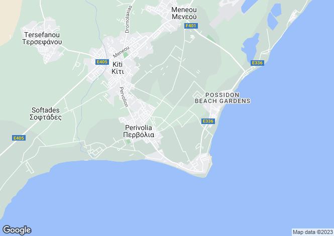 Map for Larnaca, Pervolia