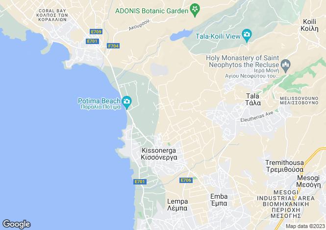 Map for Paphos, Kissonerga