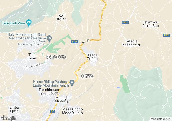 Map for Paphos, Tsada