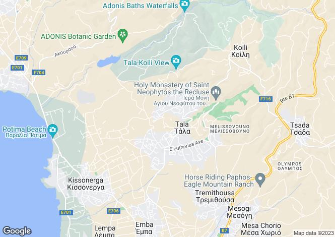Map for Tala, Ppahos, Cyprus