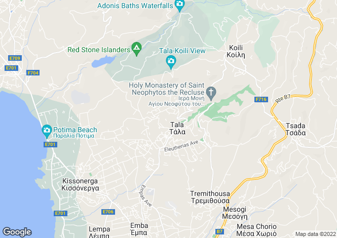 Map for Tala, Paphos
