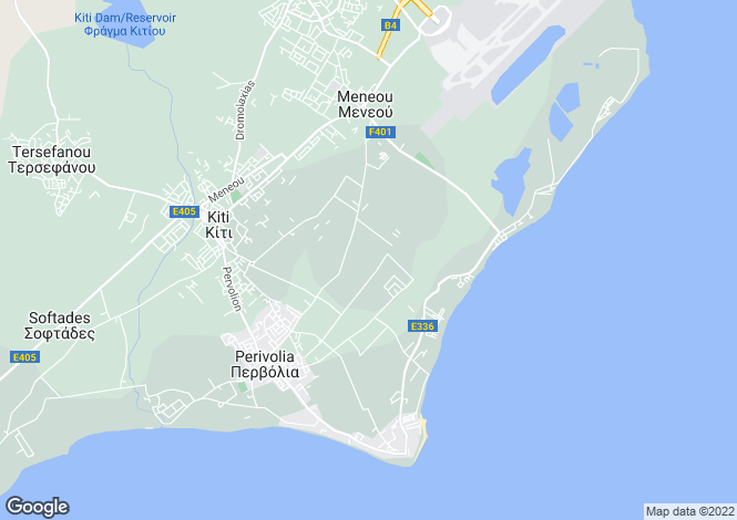 Map for Cyprus - Famagusta, Kokkines