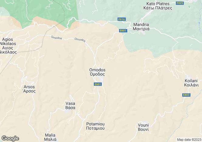 Map for Limassol, Omodos