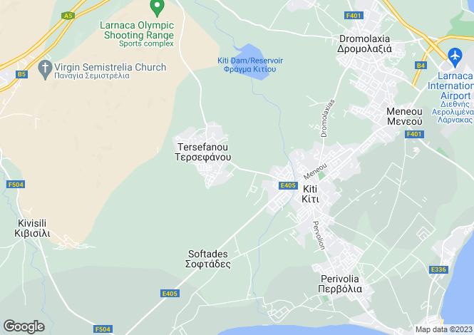 Map for Tersefanou, Larnaca