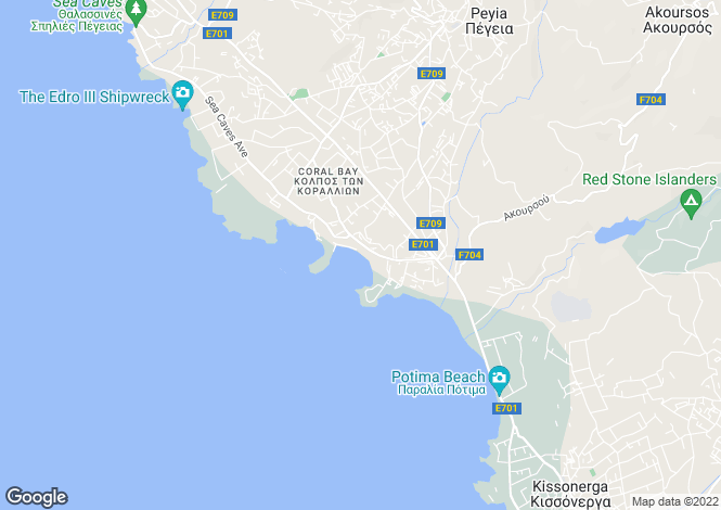 Map for Coral Bay, Paphos