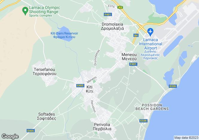 Map for Larnaca, Kiti