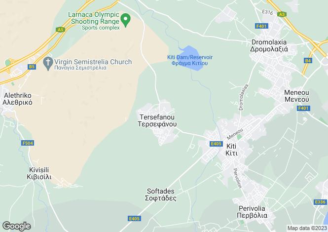 Map for Tersefanou, Larnaca, Famagusta