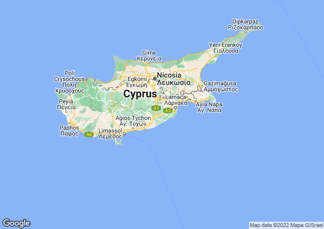 Map for Cyprus - Larnaca