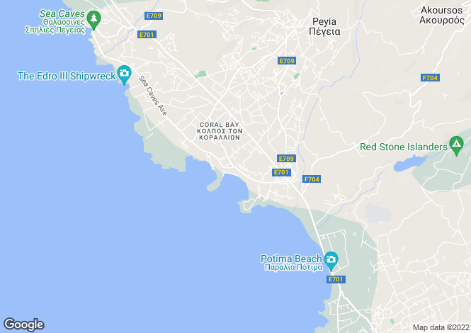 Map for Cyprus - Paphos, Coral Bay