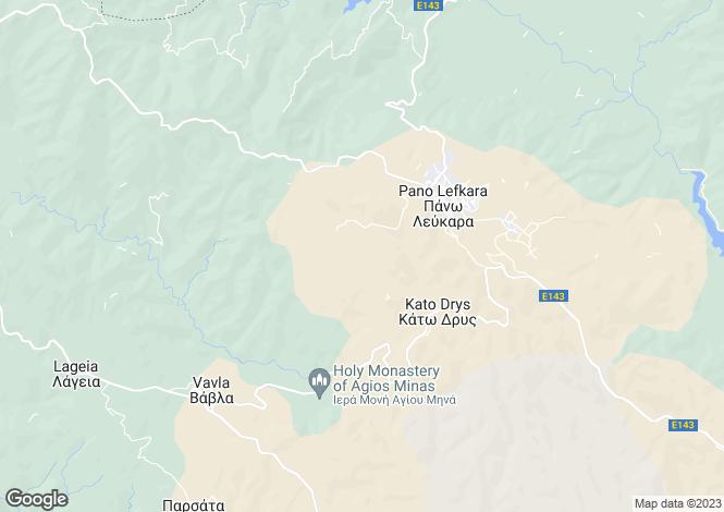 Map for Cyprus - Larnaca, Pano Lefkara