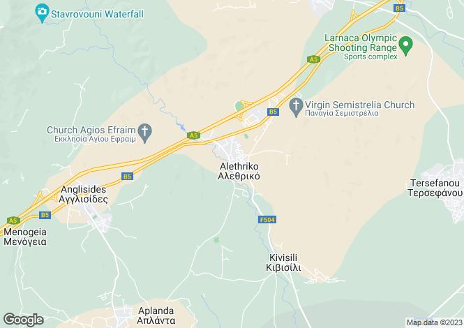 Map for Alethrikon, Larnaca