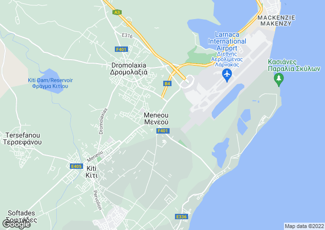 Map for Larnaca, Meneou