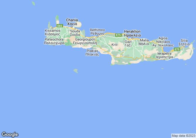 Map for Luxury villa in Mochlos