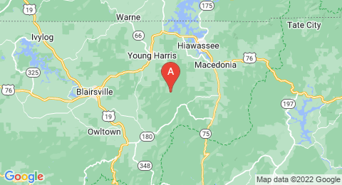 map of Brasstown Bald (United States of America)