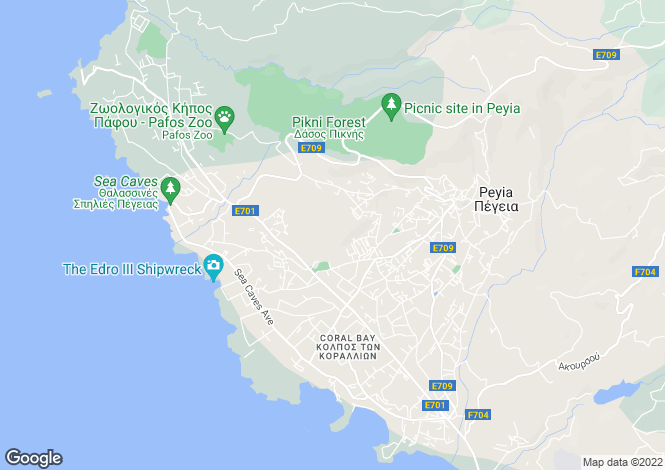Map for Pegia, Paphos, Cyprus